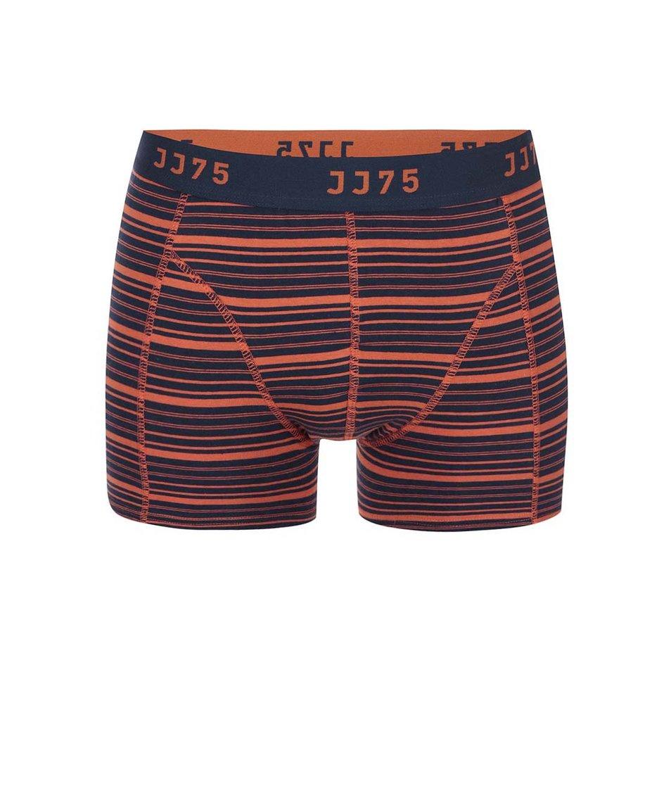 Oranžovo-modré boxerky s pruhy Jack & Jones Stripe