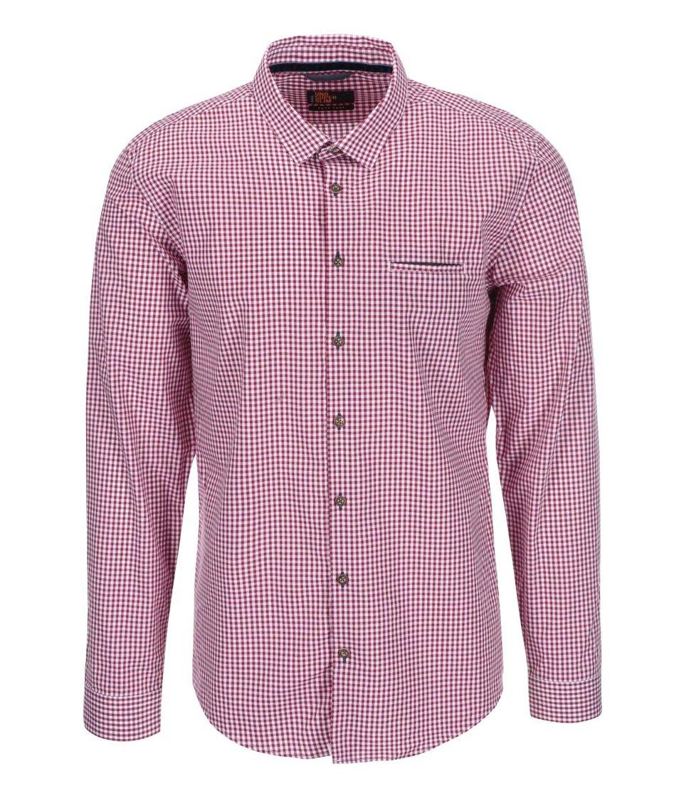 Bílo-červená kostkovaná košile Seidensticker Modern Business Kent 98