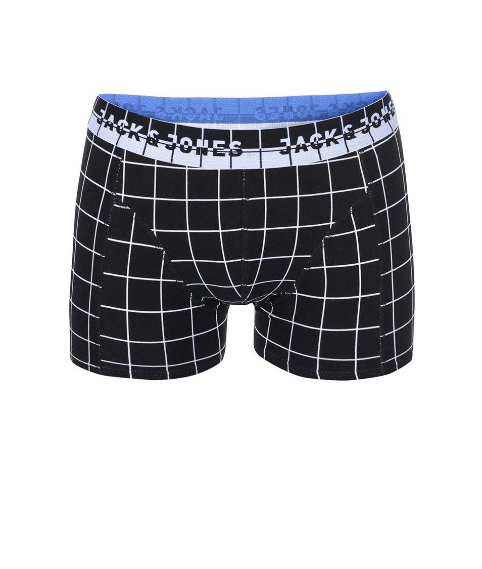 Černé boxerky s geometrickým vzorem Jack & Jones Japanese