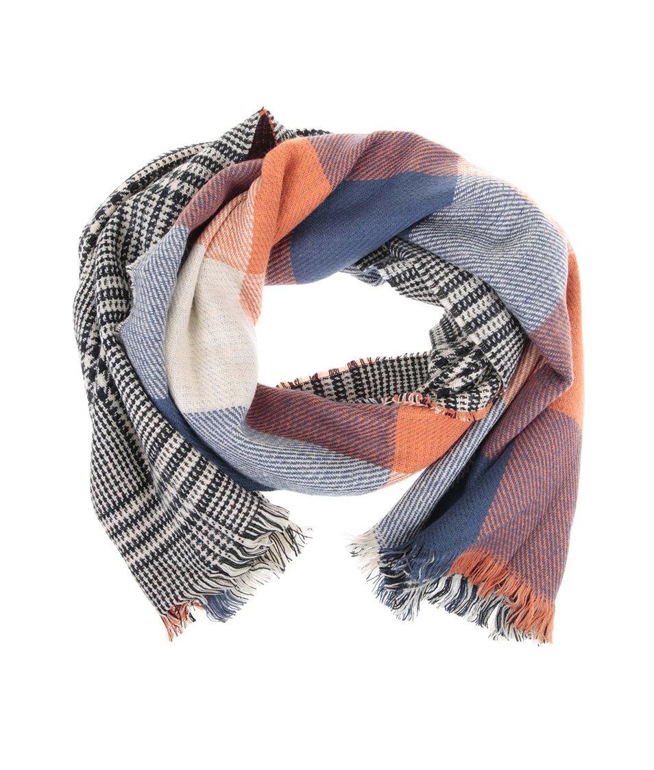 Modro-oranžový šátek Haily´s Zoe