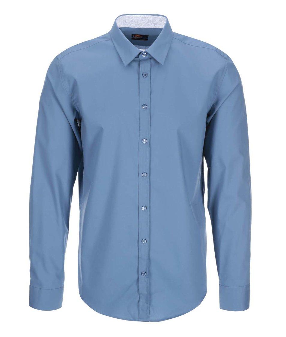 Modrá košile Seidensticker Kent Patch 98