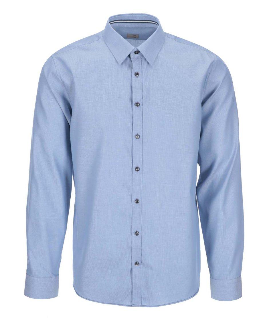 Modrá košile s jemným vzorem Seidensticker Modern Kent