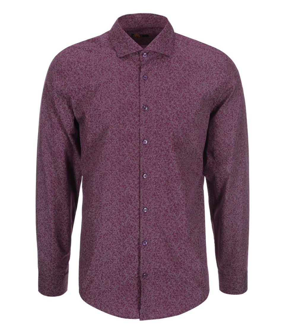 Vínová vzorovaná košile Seidensticker Shark 98