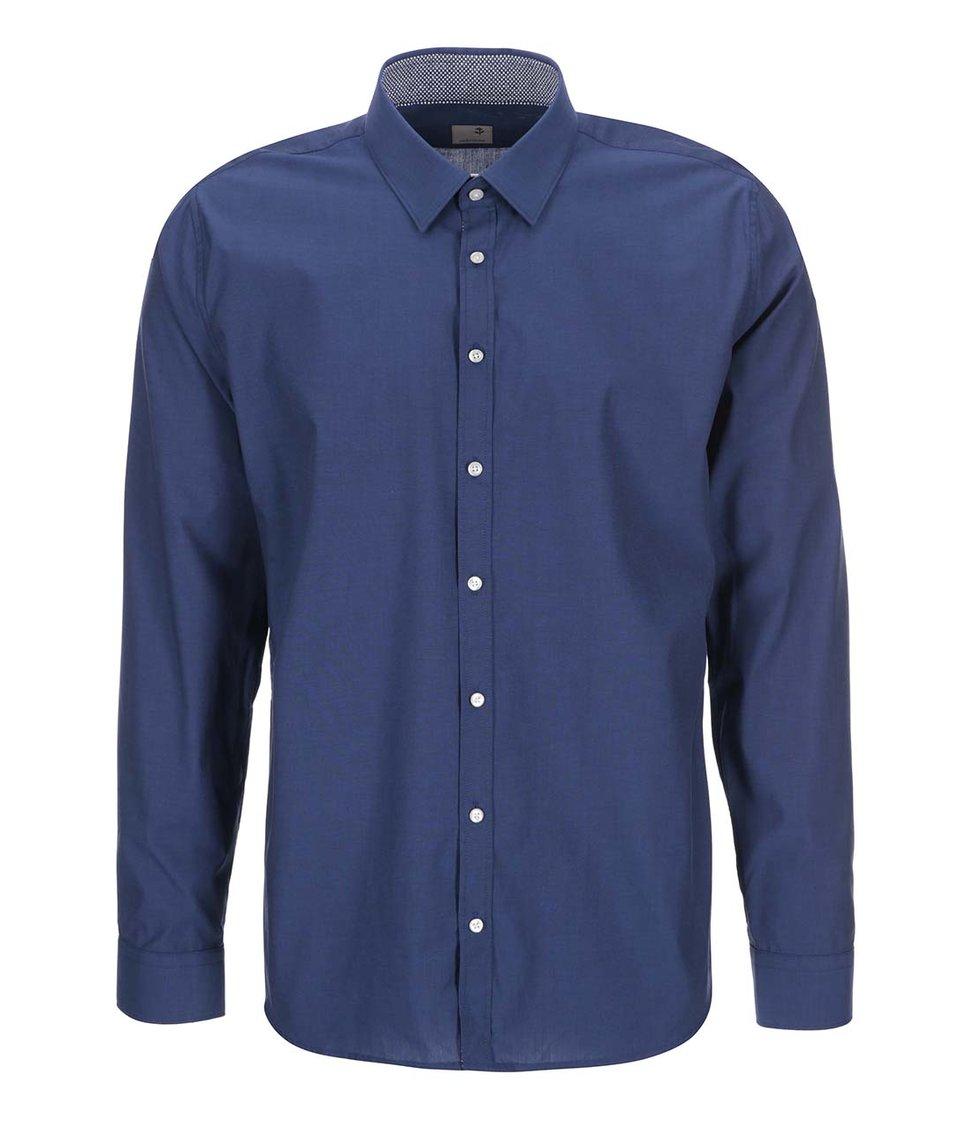 Tmavě modrá košile s jemným vzorem Seidensticker Modern Kent Patch