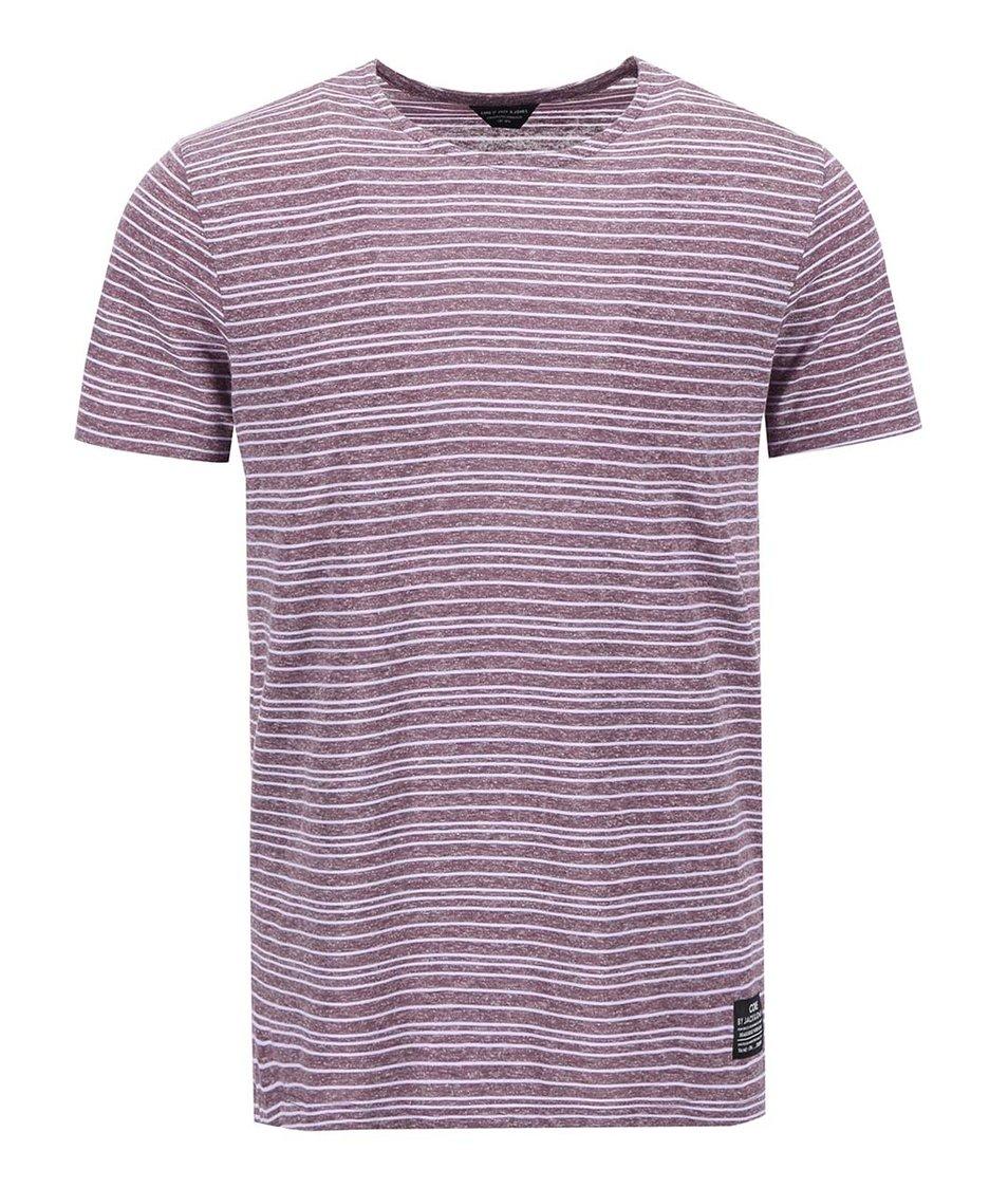 Světle fialové triko s pruhy Jack & Jones Clive