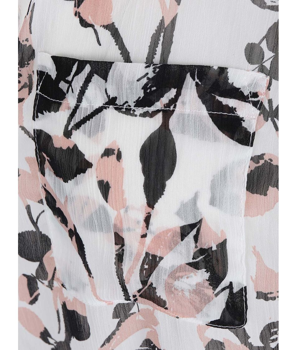 Bílá květovaná halenka Haily´s Viola