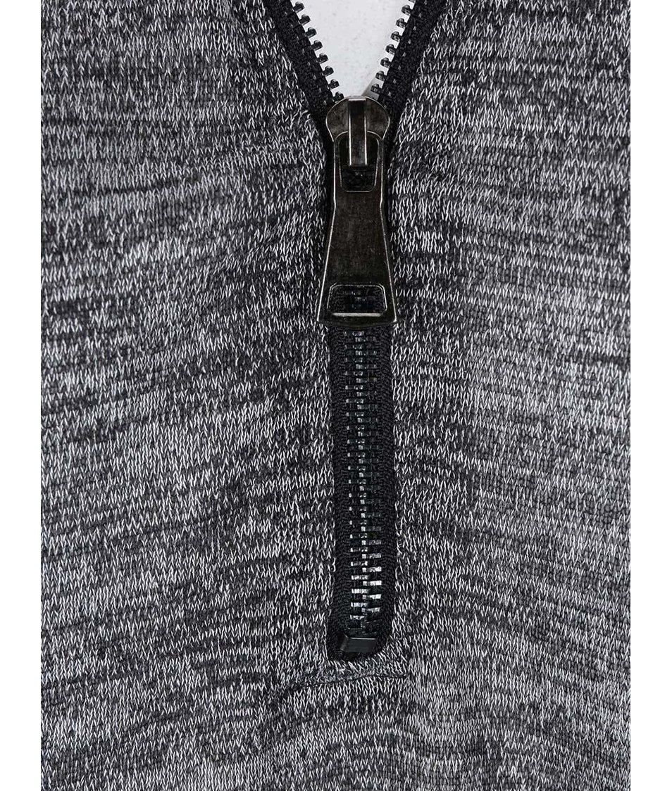 Tmavě šedý žíhaný top s 3/4 rukávy Haily´s Emily