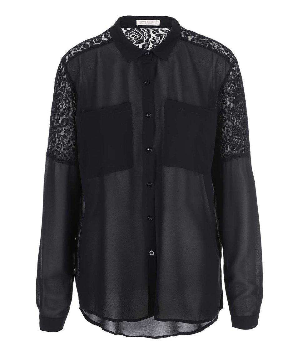 Černá dámská košile Brave Soul Krystalr