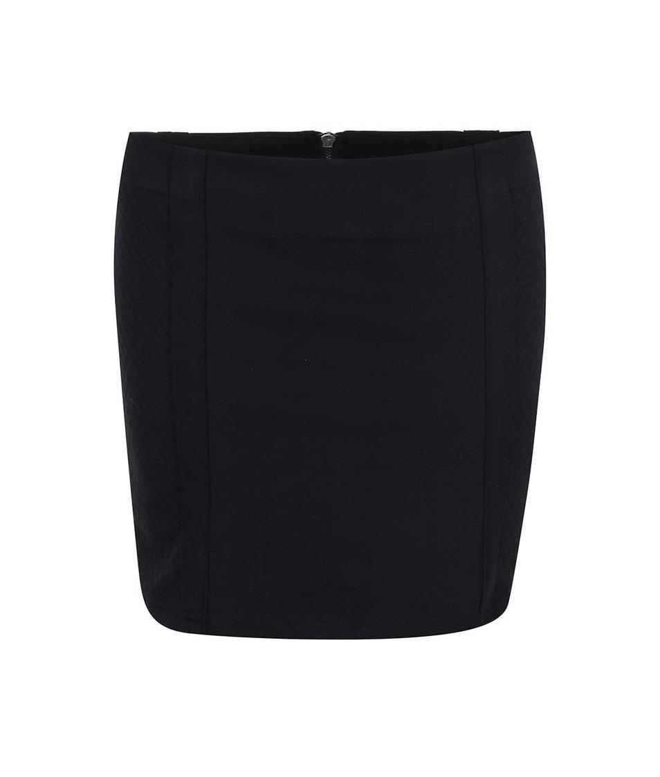 Černá sukně na zip Haily´s Gina
