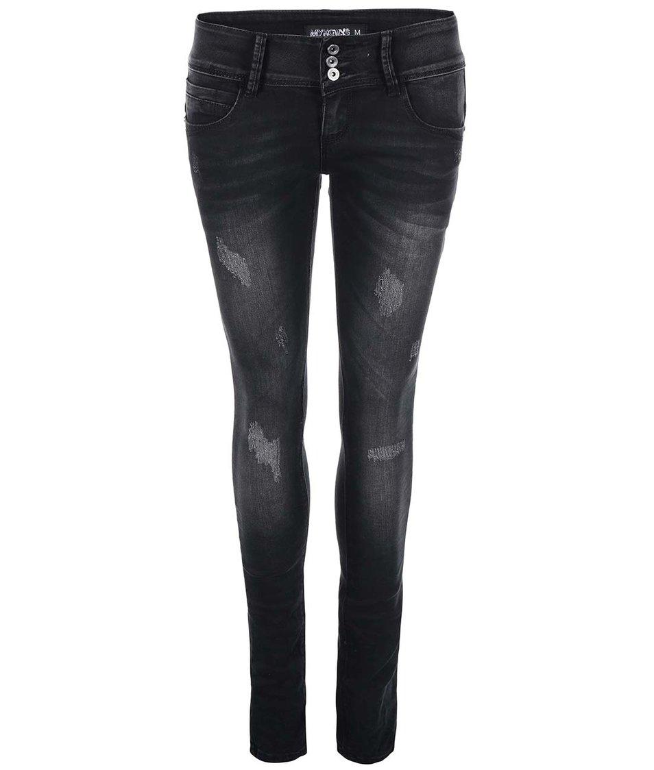 Tmavě šedé džíny Haily´s Carolina