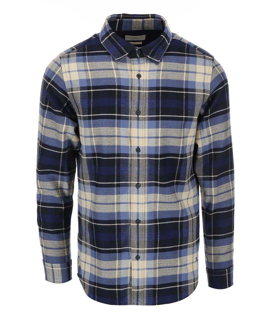 Modro-béžová pánská kostkovaná košile Selected Georg