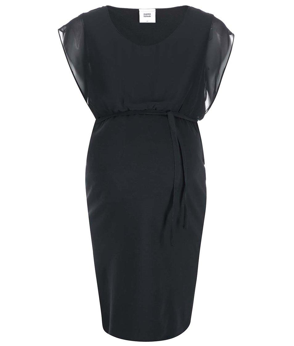 Černé těhotenské šaty Mama.licious Simone