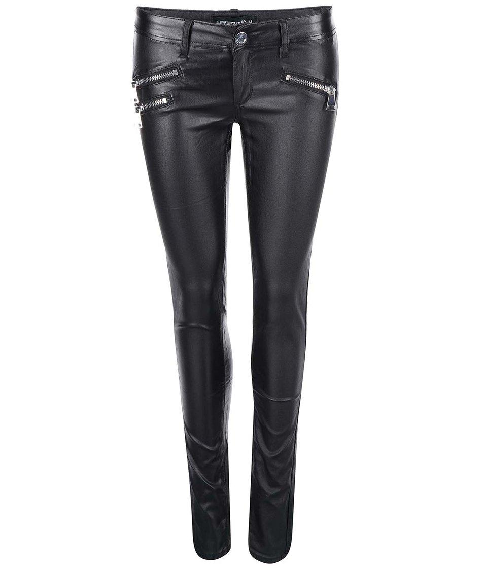 Černé koženkové kalhoty Haily´s Alexandra