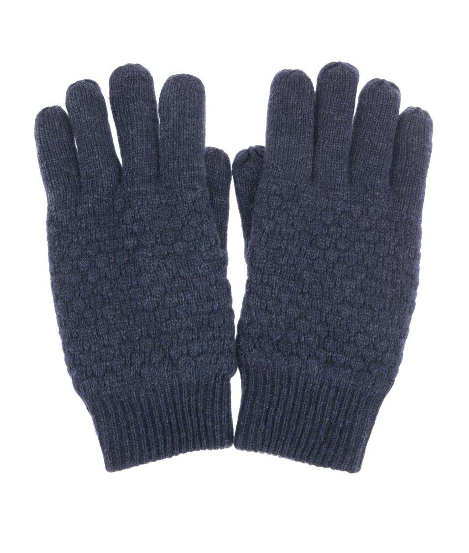Tmavě modré vlněné rukavice Selected Hank
