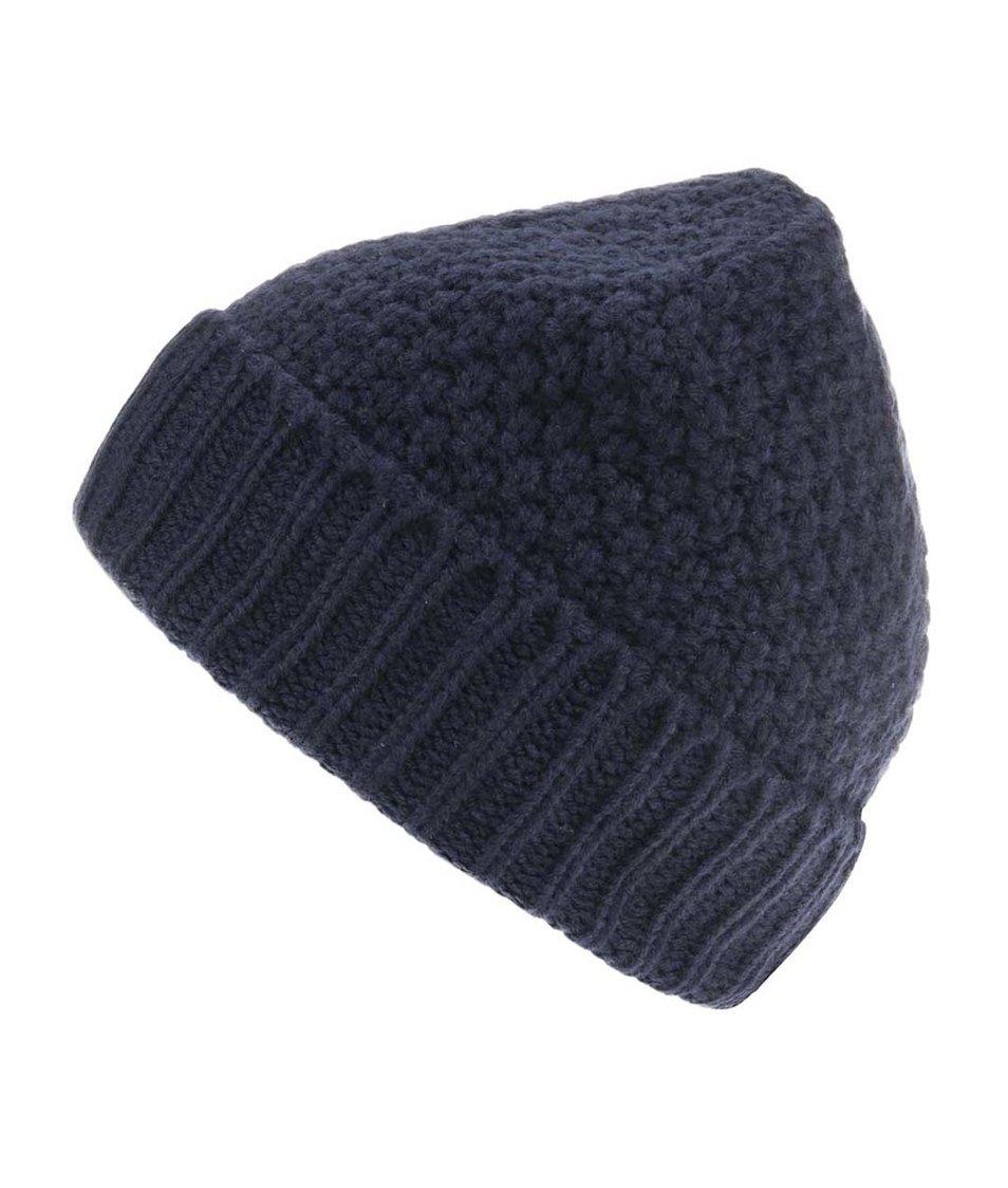 Tmavě modrá pletená čepice Selected Bart