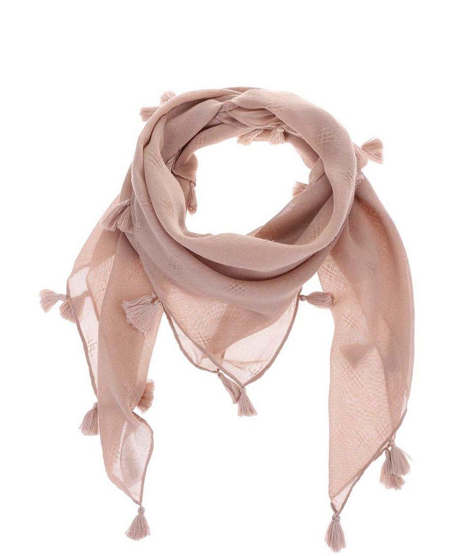 Starorůžový šátek Pieces Venus