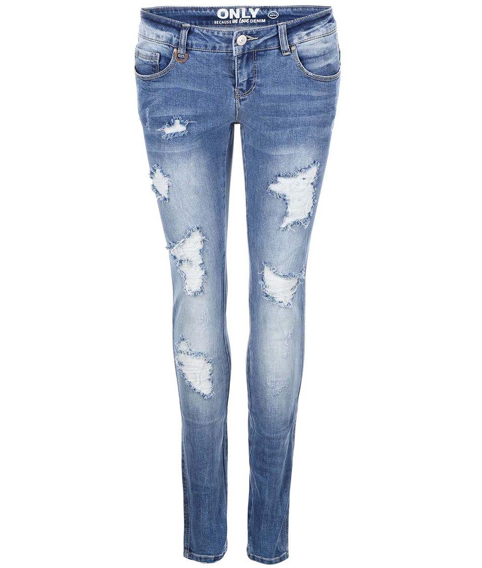 Světle modré slim džíny ONLY Coral