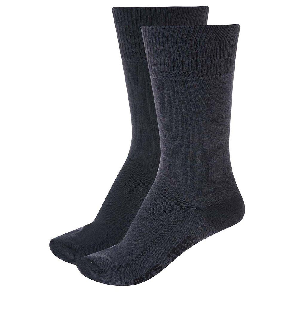 Sada dvou párů modrých pánských ponožek Levi's