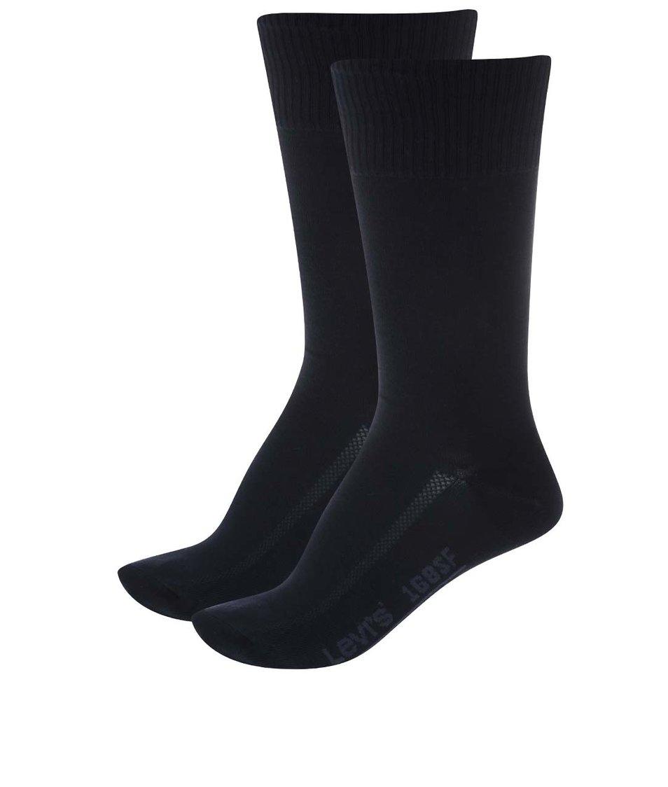 Sada dvou párů černých pánských ponožek Levi's