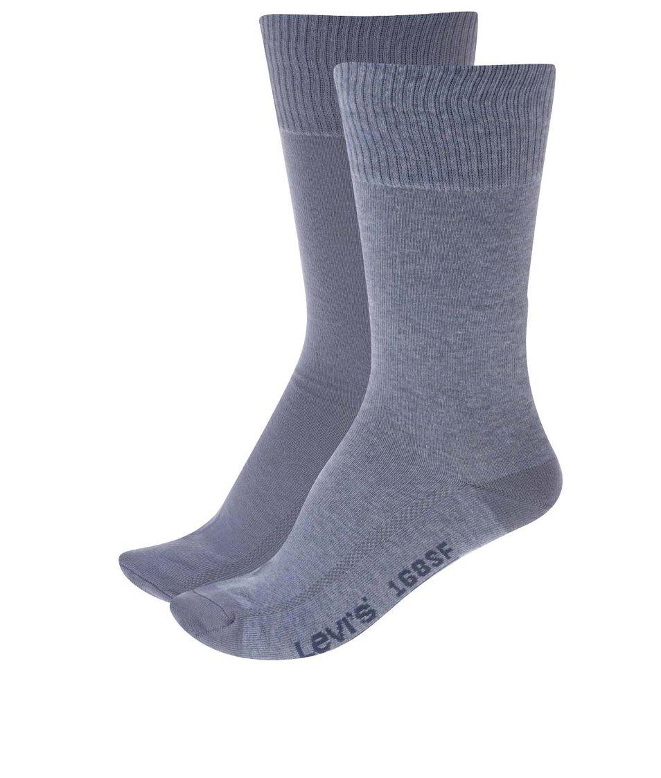 Sada dvou párů světle modrých pánských ponožek Levi's