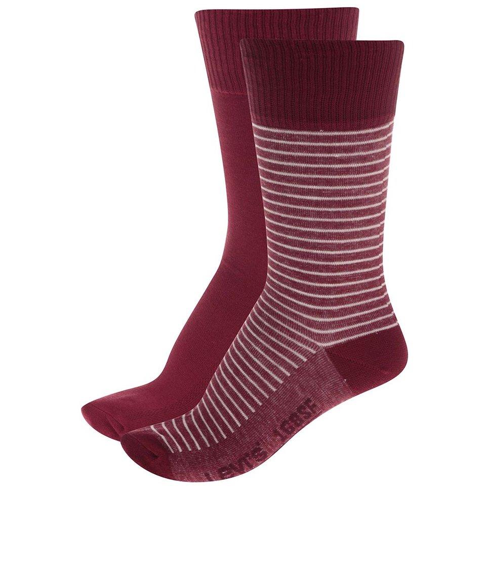 Sada párů červených a červených s pruhy pánských ponožek Levi's