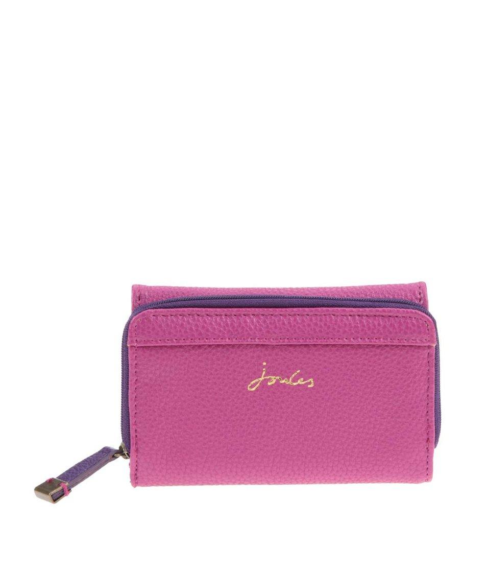 Fialovo-růžová koženková peněženka Tom Joule Piccadily