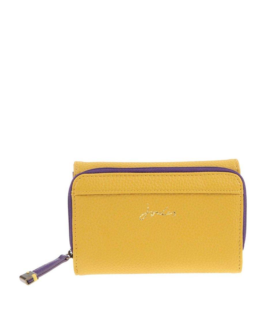 Fialovo-žlutá koženková peněženka Tom Joule Piccadily