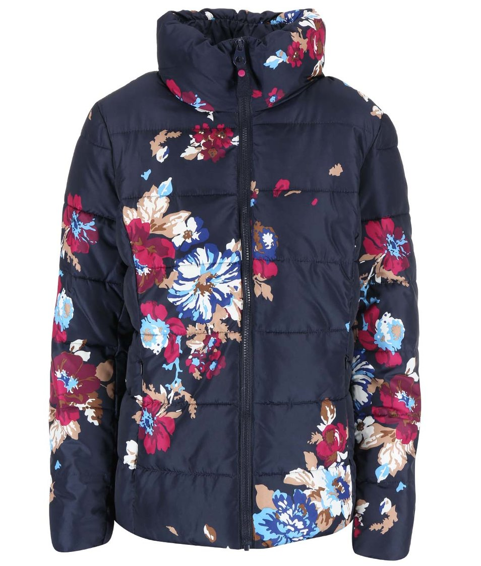 Tmavě modrá květovaná bunda Tom Joule Florian