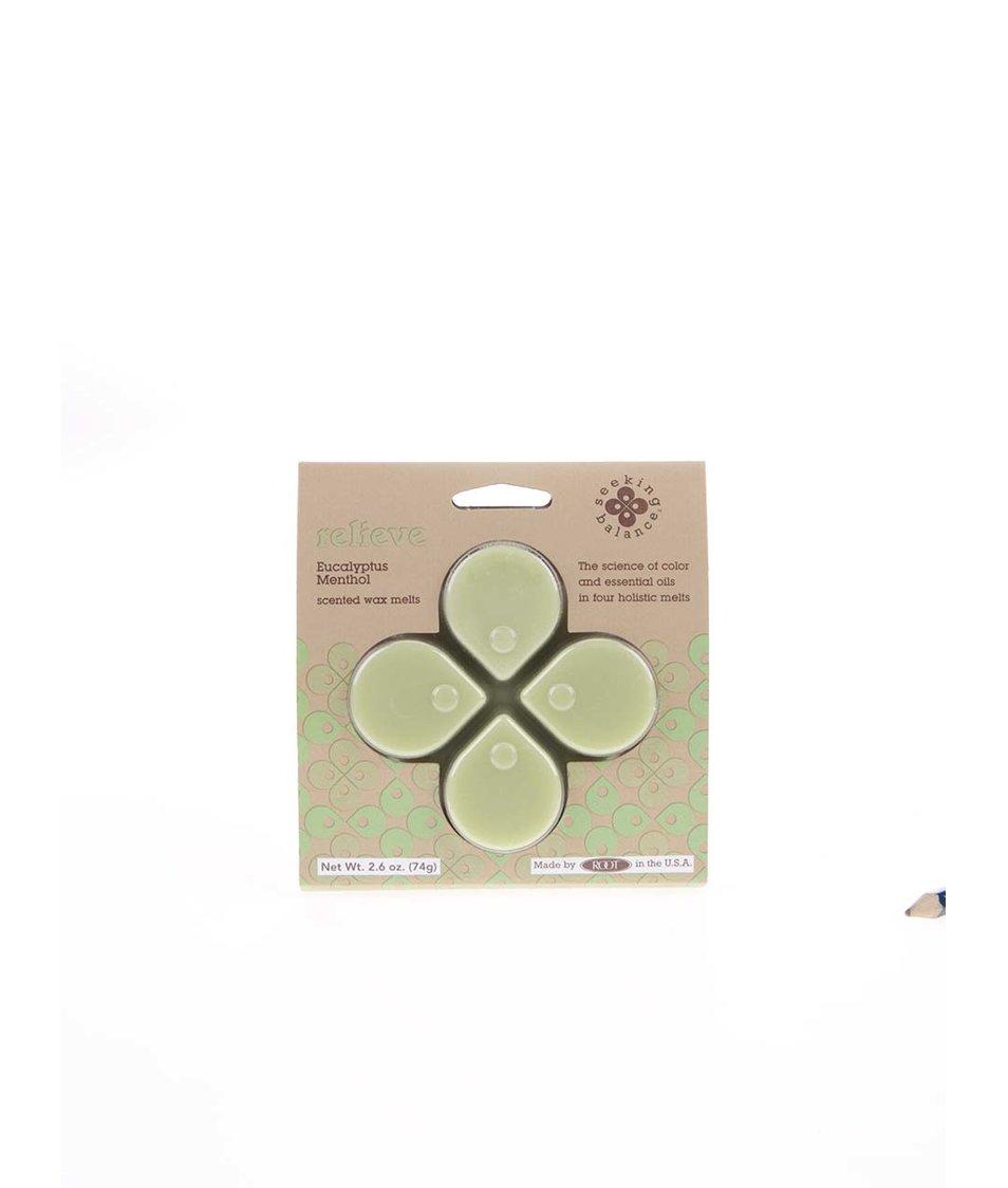Světle zelený vonný vosk Root Candles Eucalyptus Menthol - Relieve