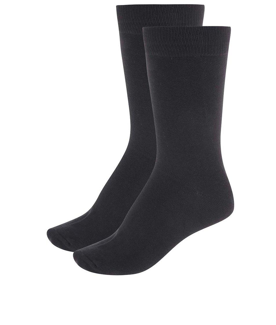 Sada dvou černých ponožek Selected Earl