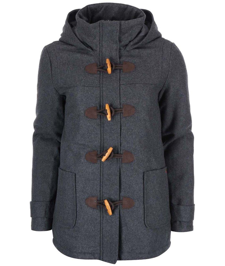 Šedá dámská bunda s kapucí Desires Renna