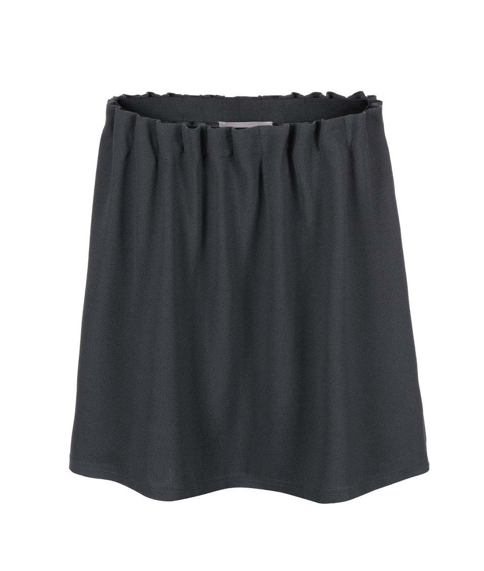 Tmavě šedá řasená sukně Vero Moda Camille