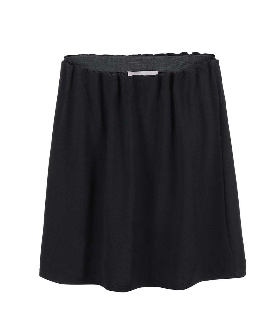Černá řasená sukně Vero Moda Camille