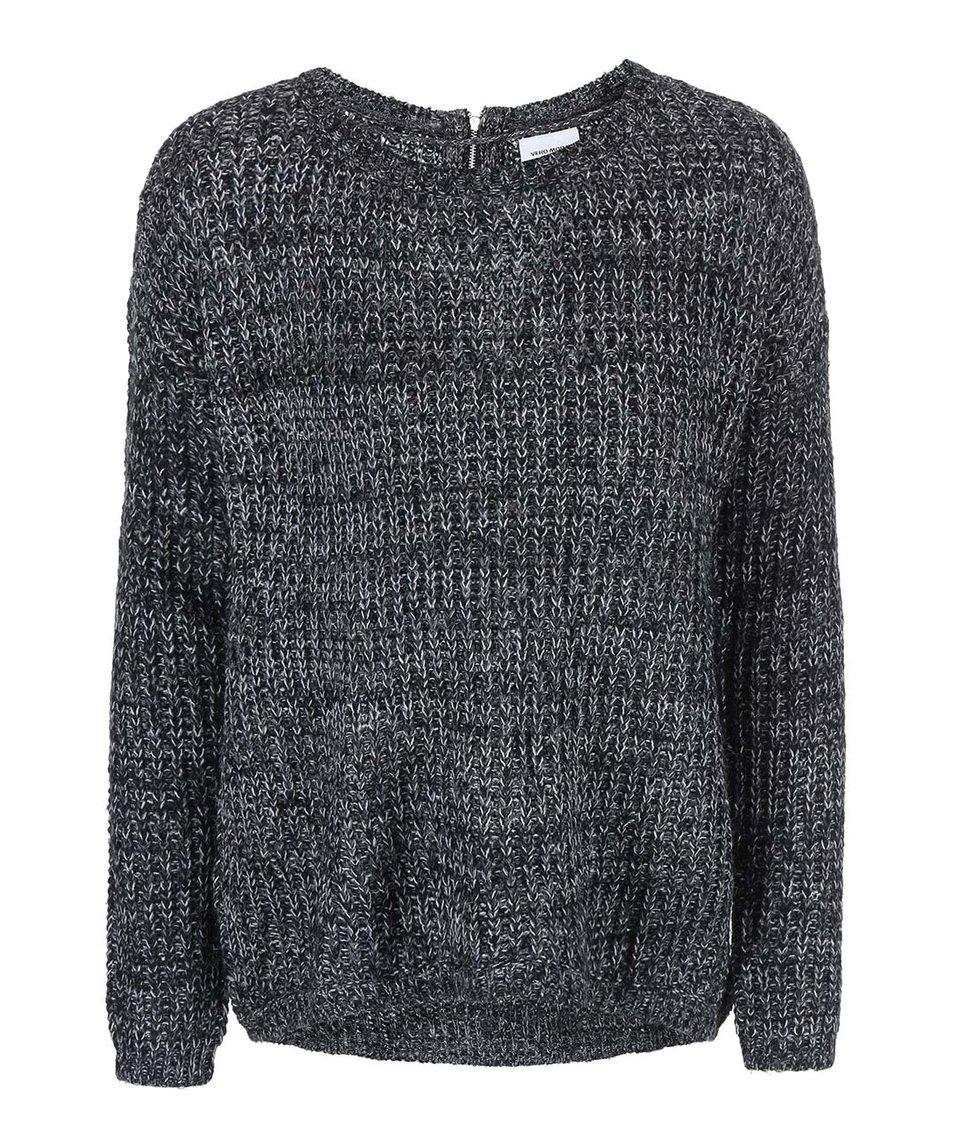 Černý žíhaný svetr Vero Moda Addie
