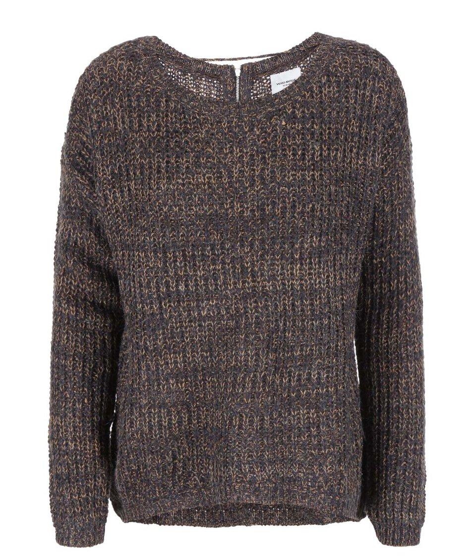 Tmavě šedý žíhaný svetr Vero Moda Addie