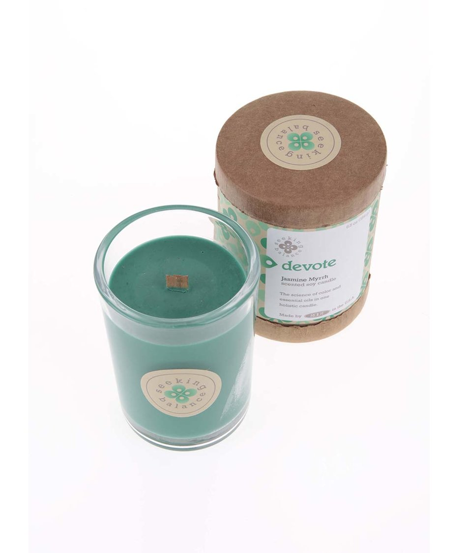 Zelená vonná svíčka Root Candles Jasmine Myrrh - Devote