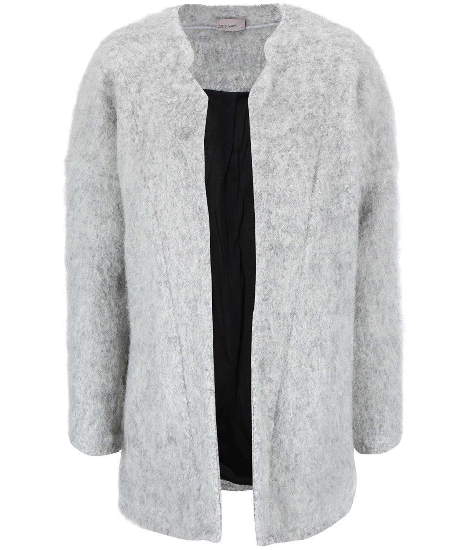 Šedý kabát Vero Moda Elvie
