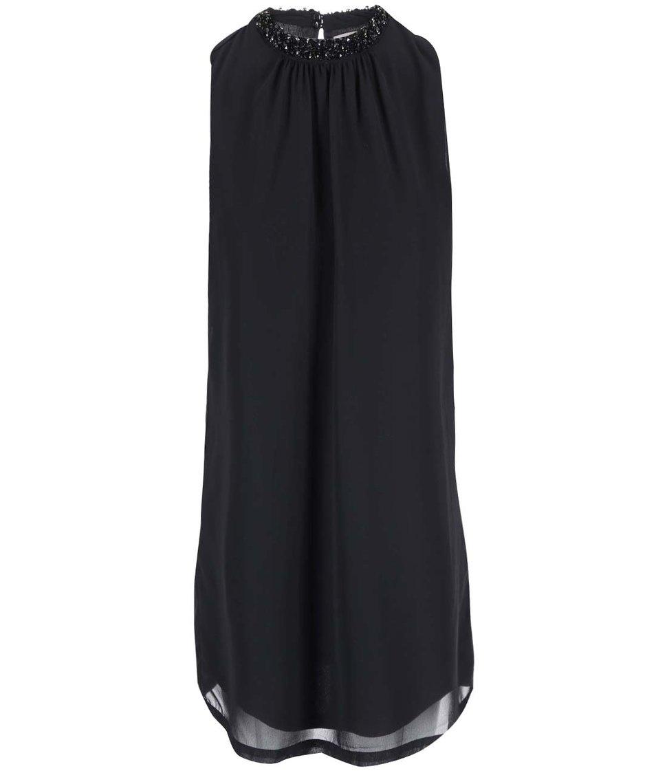 Černé šaty se zdobným detailem Vero Moda Lina