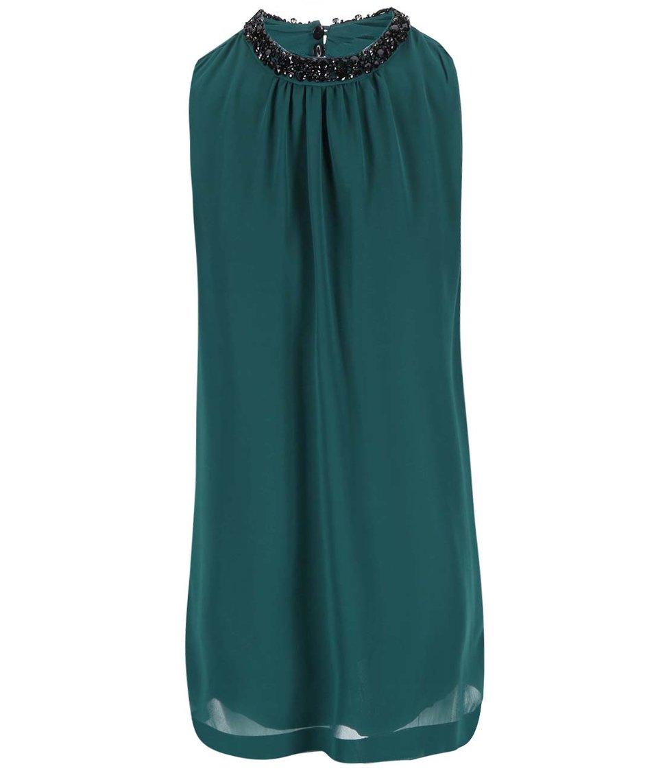 Zelené šaty se zdobným detailem Vero Moda Lina