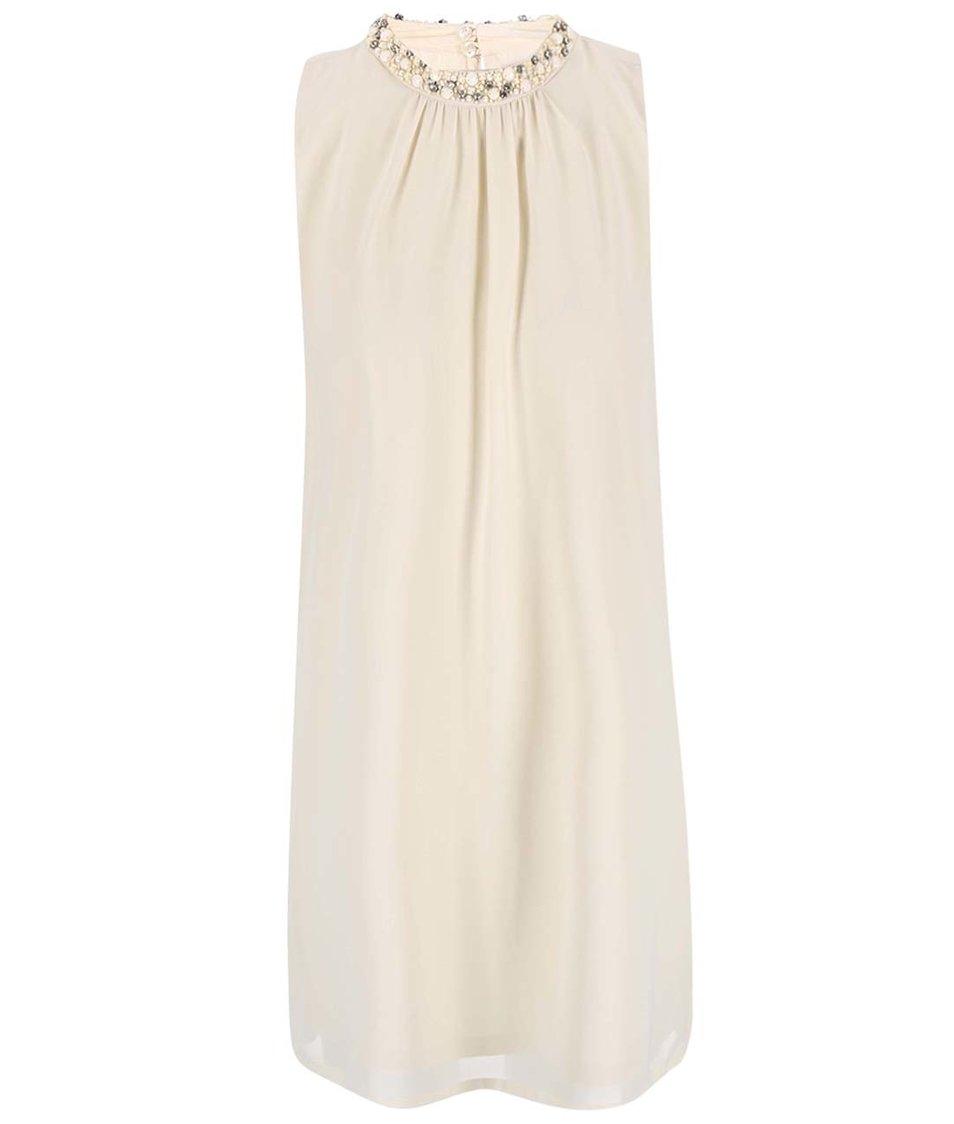 Béžové šaty se zdobným detailem Vero Moda Lina