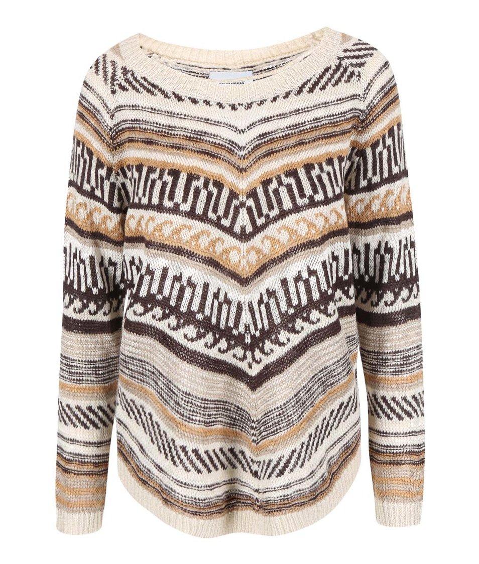 Krémový pletený svetr se vzorem Vero Moda Felipa