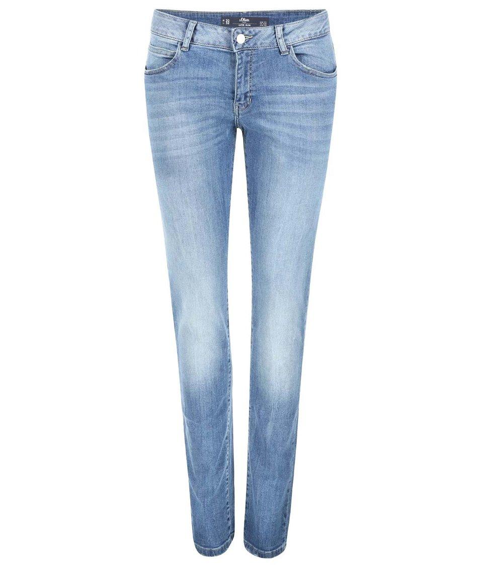 Světle modré dámské slim džíny s.Oliver