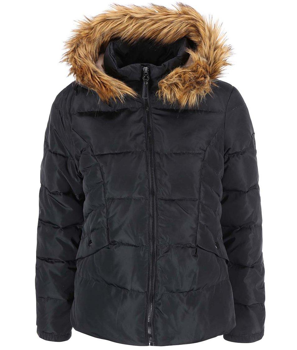 Černá bunda s kapucí Vero Moda Kelly