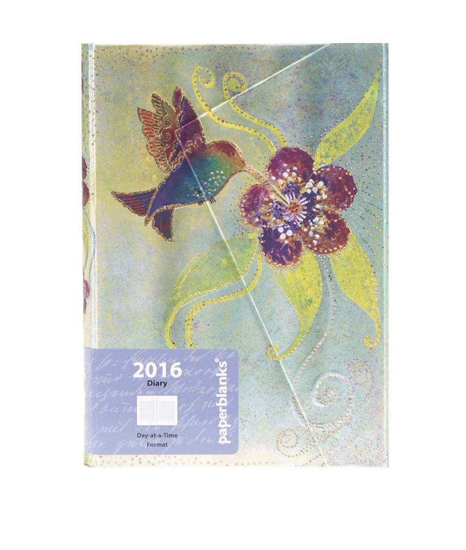 Barevný diář na rok 2016 Paperblanks Hummingbird