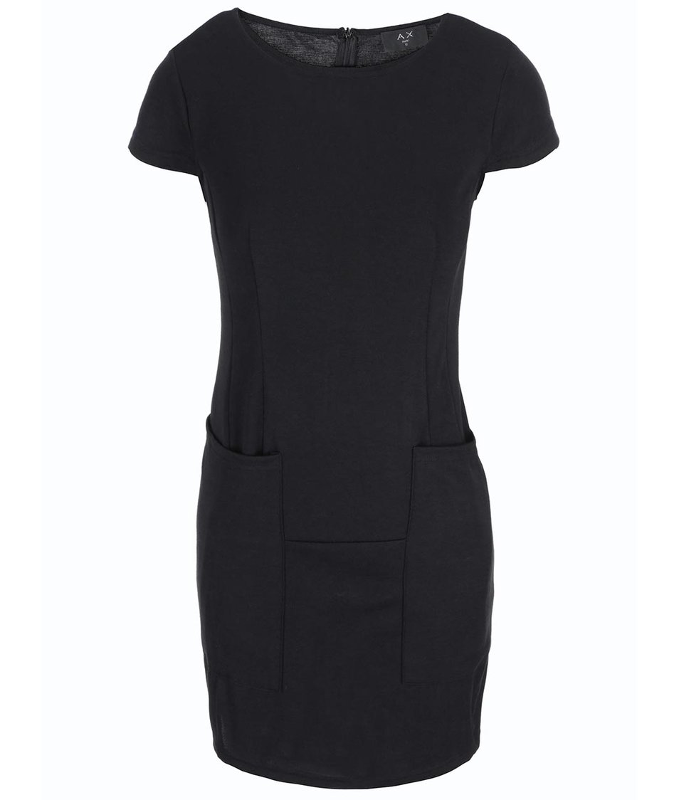 Černé šaty s kapsami AX Paris