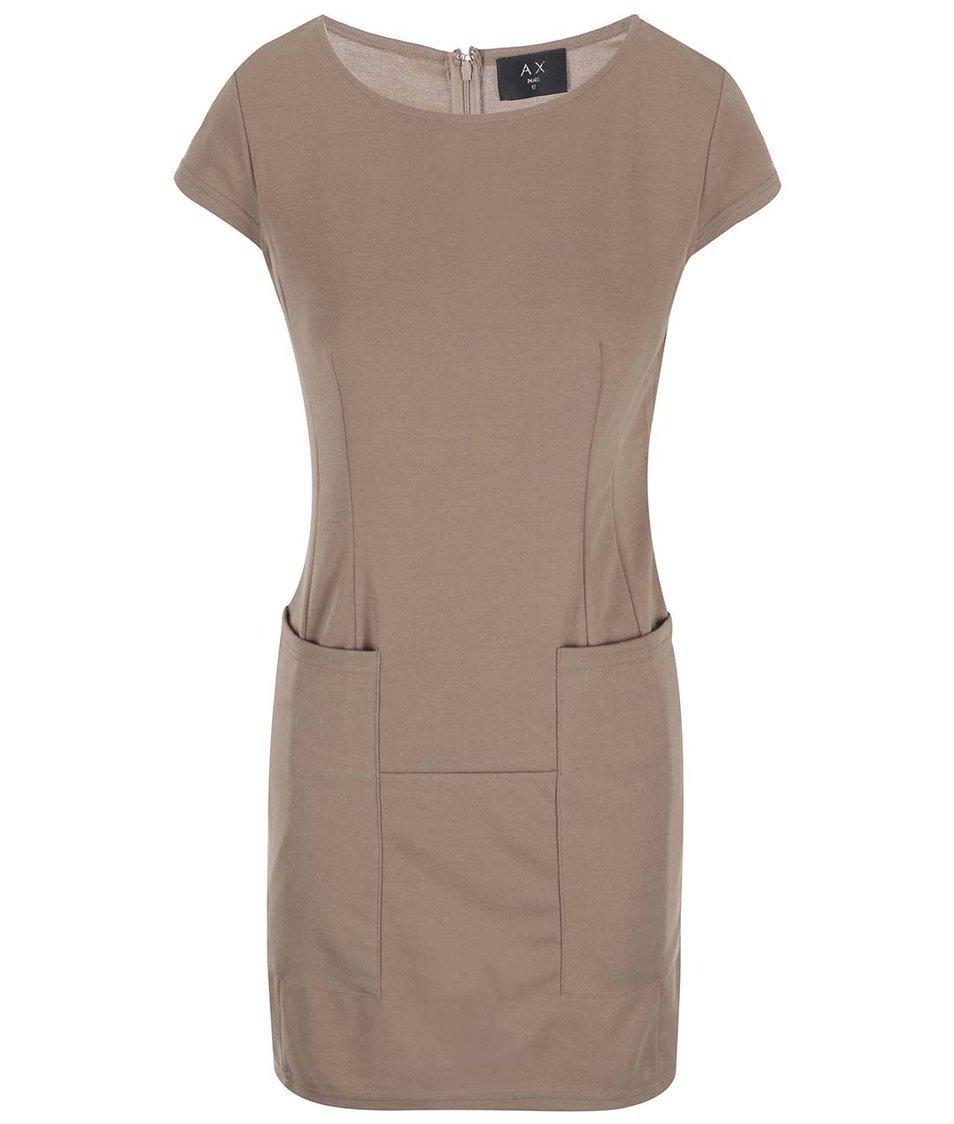 Béžové šaty s kapsami AX Paris