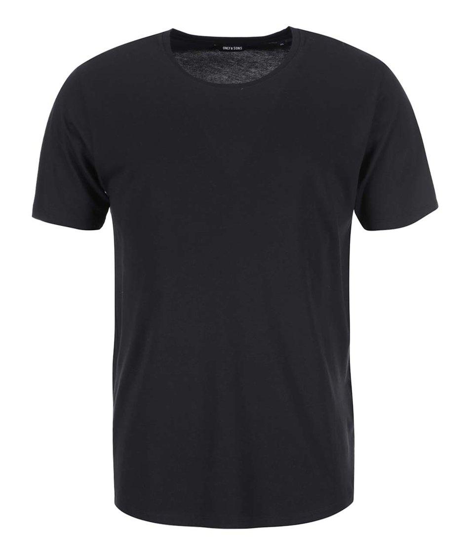 Černé triko ONLY & SONS Pima