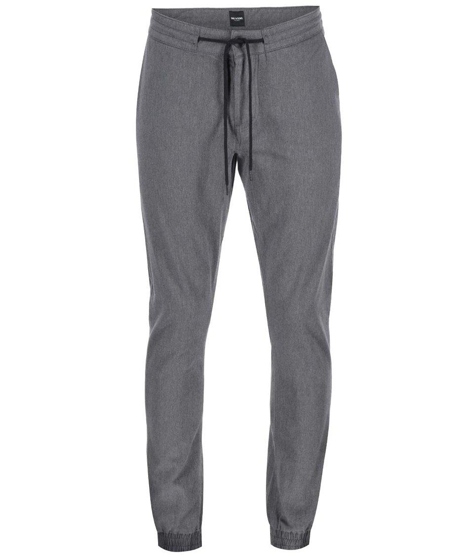 Tmavě šedé kalhoty ONLY & SONS Oliver