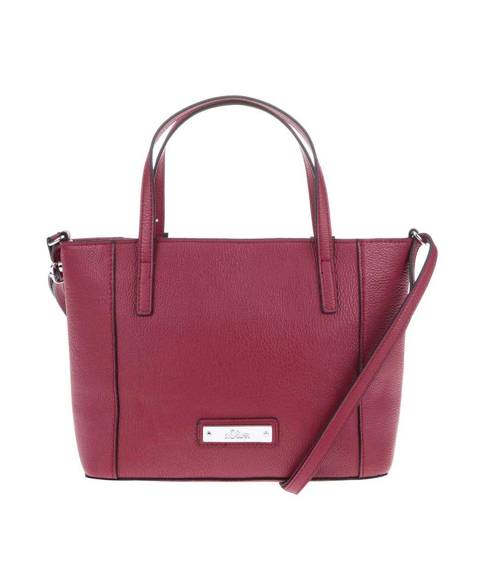 Červená menší kabelka s.Oliver