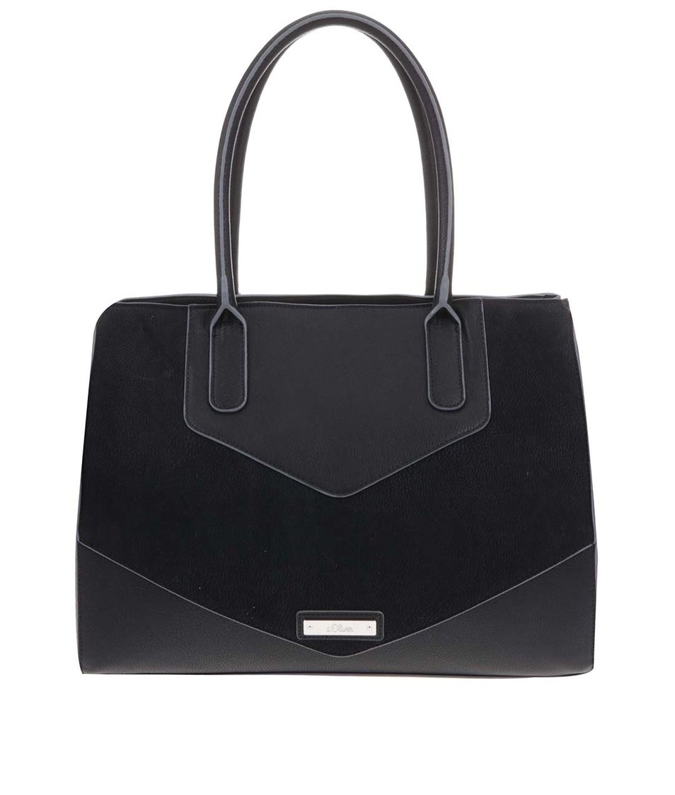 Černá větší kabelka s.Oliver
